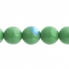 Czech Druk 10mm (Apx 18pcs) Opaque Green Aurora Borealis